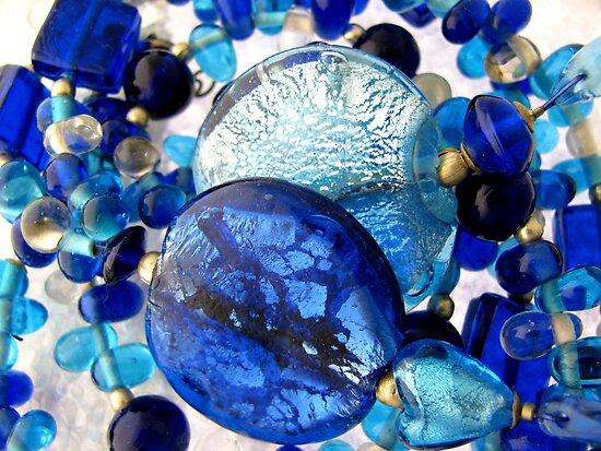 shades of blue by poshbeads