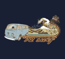 Volkswagen Kombi Tee shirt - 72 Surf by KombiNation