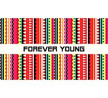 Forever Young - Aztec Pattern Photographic Print