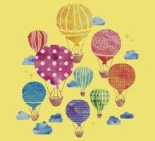 Hot Air Balloon Night Kids Tee