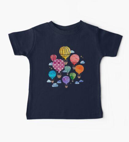 Hot Air Balloon Night Baby Tee