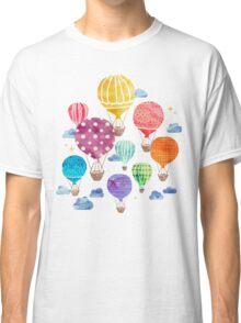 Hot Air Balloon Night Classic T-Shirt