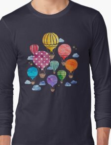 Hot Air Balloon Night Long Sleeve T-Shirt