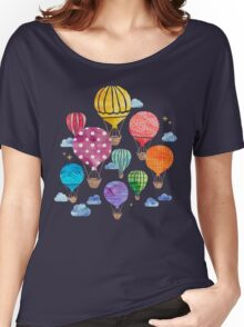 Hot Air Balloon Night Women's Relaxed Fit T-Shirt