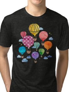 Hot Air Balloon Night Tri-blend T-Shirt