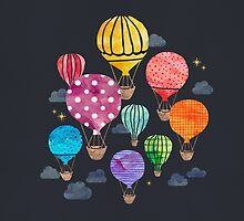 Hot Air Balloon Night by weirdoodle