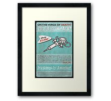 Fallout - Try a Stimpack! Framed Print