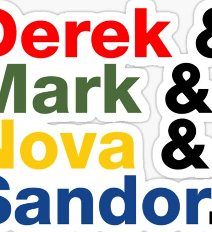 Derek & Mark & Nova & Sandor (Multicolor) Sticker