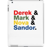 Derek & Mark & Nova & Sandor (Multicolor) iPad Case/Skin