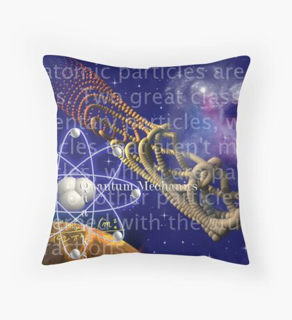 Sub-atomic Throw Pillow