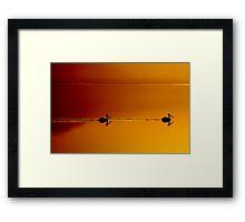 Sunset Cruising Framed Print