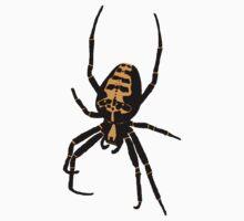 Spider - Orange Baby Tee