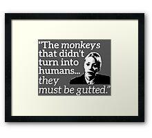 Philomena Cunk: Monkeys Framed Print