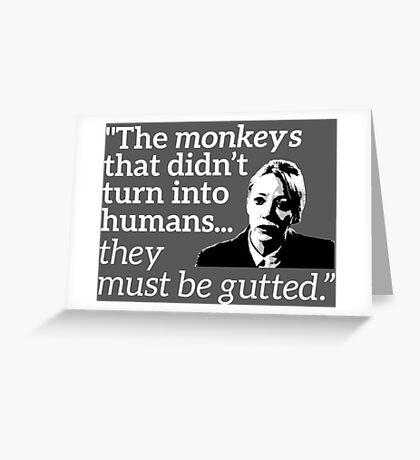 Philomena Cunk: Monkeys Greeting Card