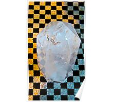 Large Quartz Crystal (Brazilian ) Poster