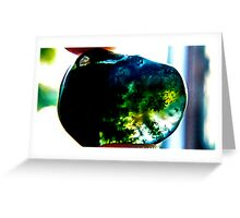 Moss formation agate Greeting Card