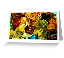 Assorted Gems and Crystals Greeting Card
