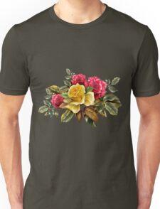 Watercolor rose bouquet Unisex T-Shirt