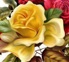 Watercolor rose bouquet Sticker