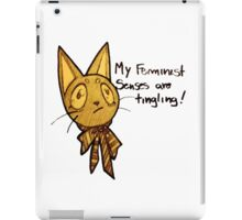 Monique, the feminist cat of color iPad Case/Skin