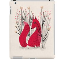 Fox in scrub iPad Case/Skin