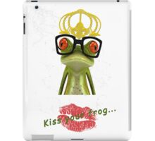 Kiss your frog iPad Case/Skin