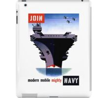 Join Navy -- Modern Mobile Mighty iPad Case/Skin