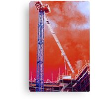 Crane and construction Canvas Print