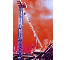 Crane and construction Photographic Print