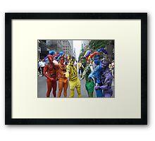 Rainbow boys Framed Print