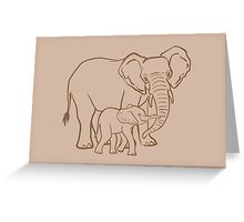 Mother & Baby: Elephant Greeting Card