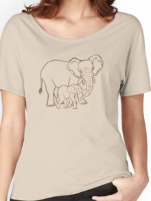 Mother & Baby: Elephant Women's Relaxed Fit T-Shirt