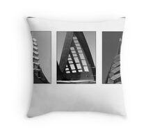 Swan Bells Triptych Throw Pillow