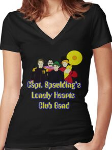 Capt. Spaulding's Lonely Hearts Club Band Women's Fitted V-Neck T-Shirt