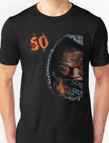 50 Cent on fire Unisex T-Shirt