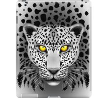 White Leopard with Yellow Eyes iPad Case/Skin