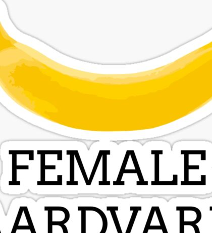 Female aardvark Sticker