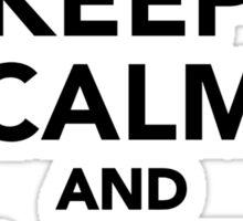 Keep calm and love beavers Sticker