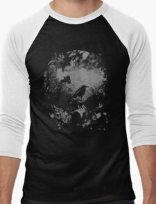 Skull with Crows - Grunge Men's Baseball ¾ T-Shirt