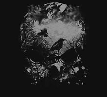 Skull with Crows - Grunge T-Shirt