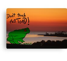 The Frog goes 2island Canvas Print