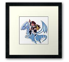 Blue Eyes White Jet Framed Print