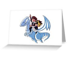 Blue Eyes White Jet Greeting Card