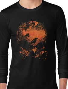 Skull with Crows - Distressed Grunge T-Shirt