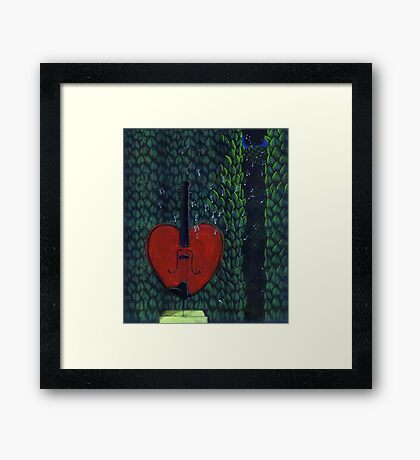 Base of My Heart No.2 (Sold) Framed Print
