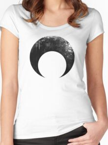 Sailor Moon dark symbol Women's Fitted Scoop T-Shirt