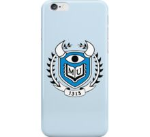 Monsters University Emblem iPhone Case/Skin