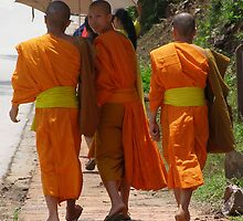 The Young Monks of Luang Prabang by focus2focus