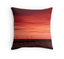 Port Phillip Bay , after the bush fires Throw Pillow