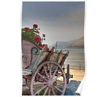 Argostoli Cart Poster